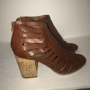 Brown indigo rd. Heeled sandals